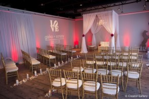 Square fabric ceremony structure